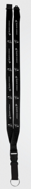"Skunk Works 3/4"" Polyester, Ribbed Lanyard with Breakaway Release"