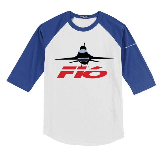 F-16 Youth Colorblock Raglan Jersey