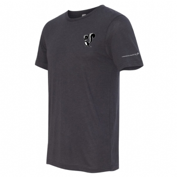 Skunk Works Stacked Logo Tee -Solid Dark Grey Triblend