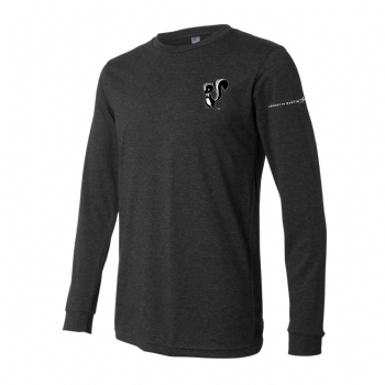 Skunk Works Stacked Logo Long Sleeve Tee - Charcoal