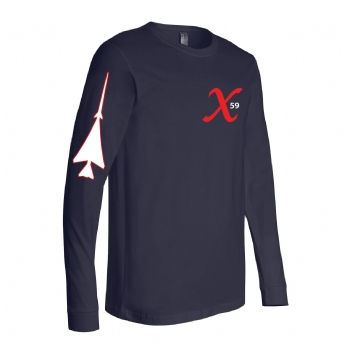 X59 Long Sleeve Tshirt - Navy