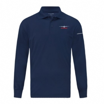 C-130J Long Sleeve Micropique Sport-Wick Polo