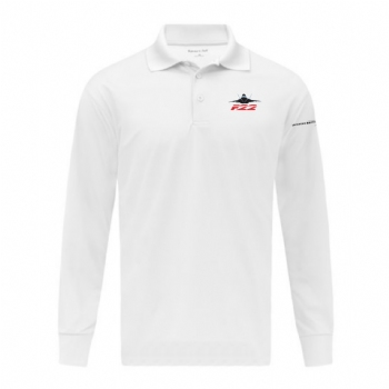 F-22 Long Sleeve Micropique Sport-Wick Polo