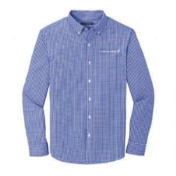Lockheed Martin Broadcloth Gingham Easy Care Shirt