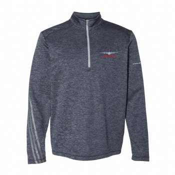 Adidas Brushed Terry Heathered 1/4 Zip