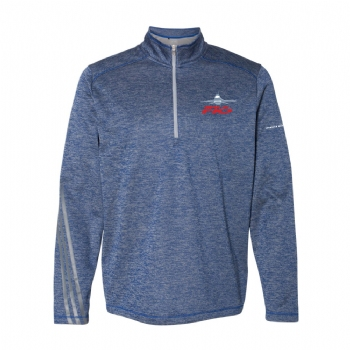 F-16 Adidas Brushed Terry Heathered 1/4 Zip