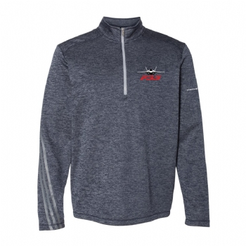F-35 Adidas Brushed Terry Heathered 1/4 Zip