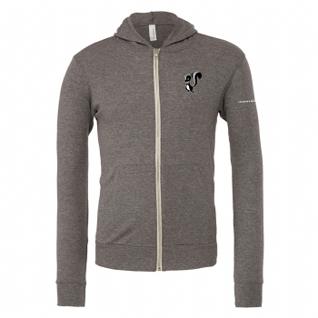 Skunk Works Unisex Triblend Lightweight Full Zip Hoodie