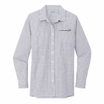 Lockheed Martin Women's Broadcloth Gingham Easy Care Shirt