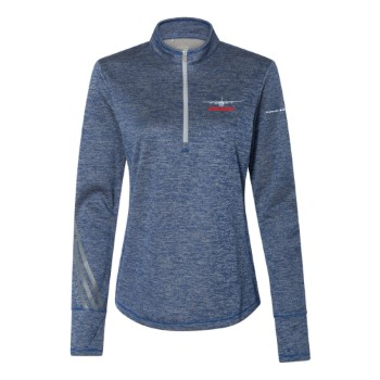 C-130J Women's Adidas Brushed Terry Heathered 1/4 Zip