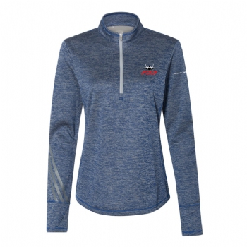 F-35 Women's Adidas Brushed Terry Heathered 1/4 Zip
