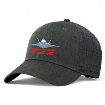 F-22 Perforated Hook-and-Loop Cap