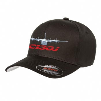 C-130J Adult Flex Fit Cotton Twill Cap