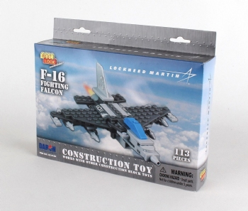 F-16 Construction Toy 113 Pieces