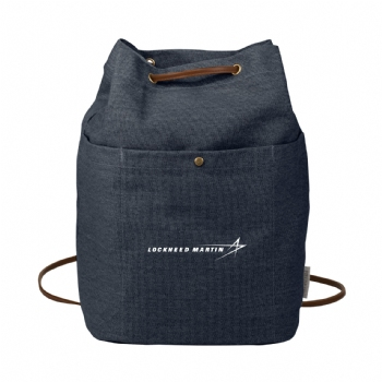 Field & Co. 16 oz. Cotton Canvas Convertible Tote - Navy