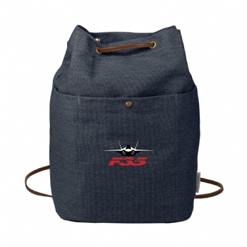 F-35 Field & Co. 16 oz. Cotton Canvas Convertible Tote - Navy