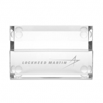 Lockheed Martin Atrium Glass Business Card Holder