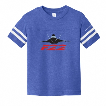 F-22 Youth Toddler Football Fine Jersey Tee