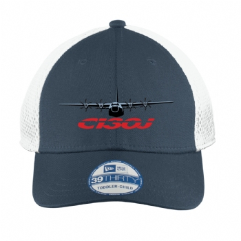 C-130J New Era Youth Stretch Mesh Cap